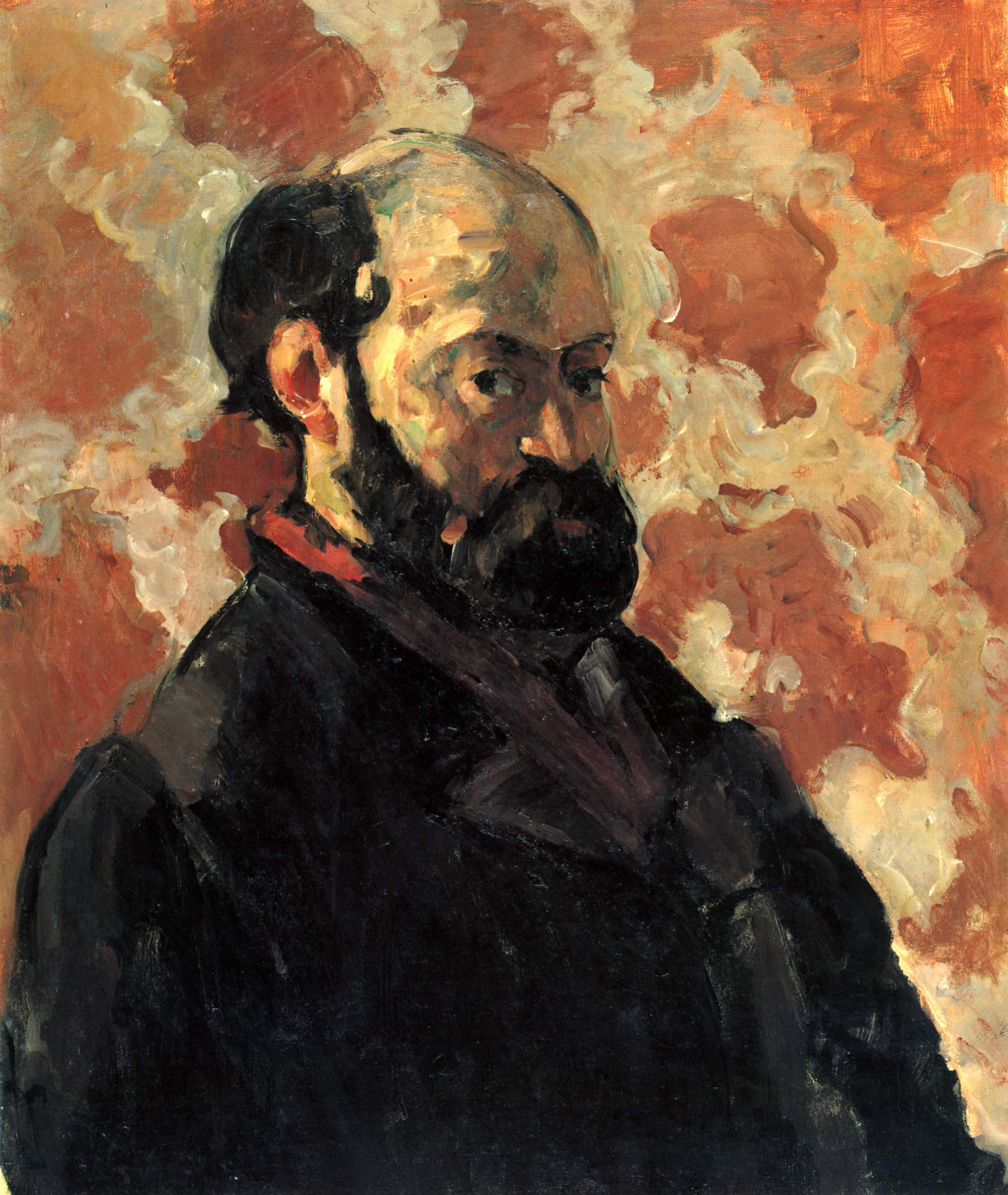 Self-portrait in front of pink background 1875