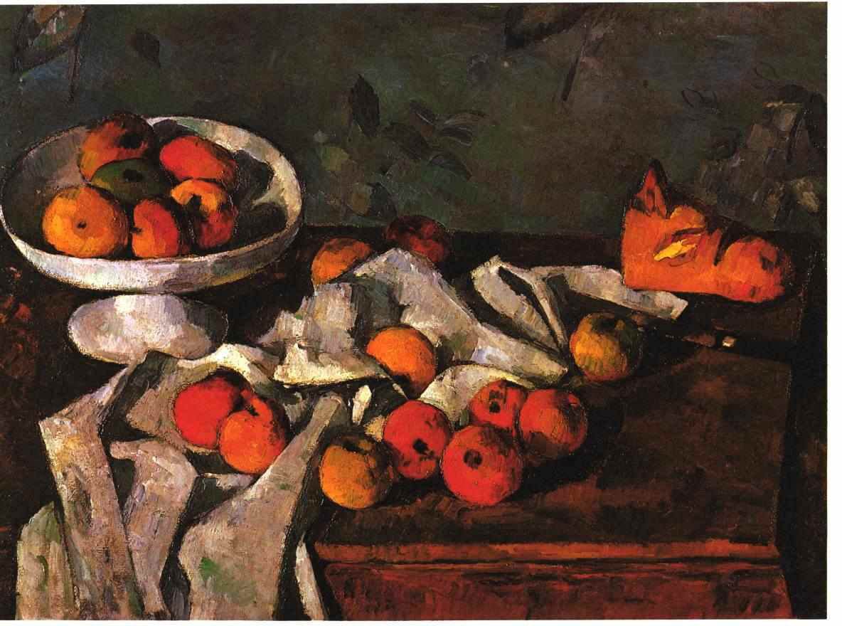 Still Life with a fruit dish and apple 1880