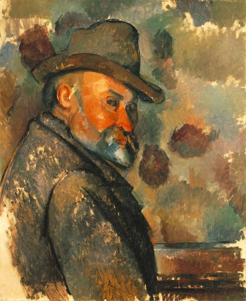 Self-portrait in a felt hat 1894