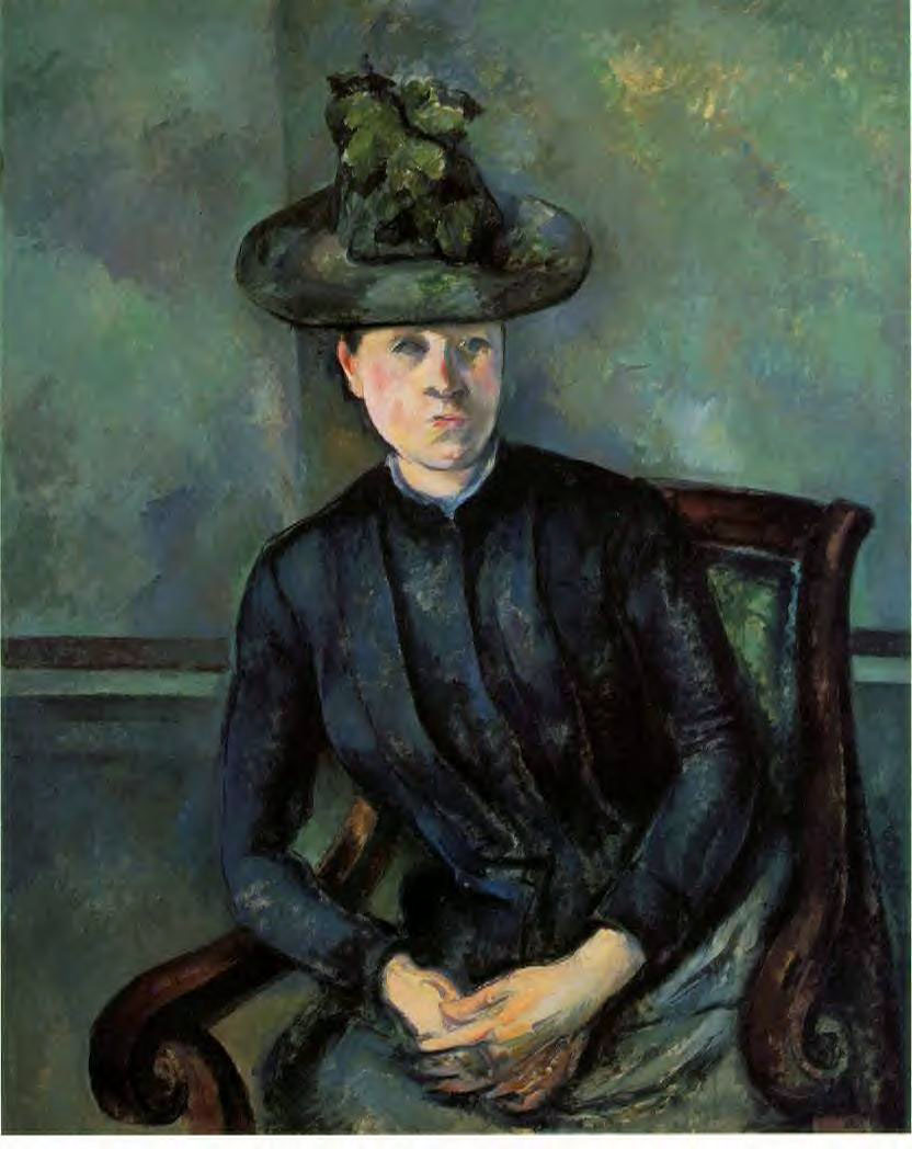 Madame Cezanne with green hat 1891-1892