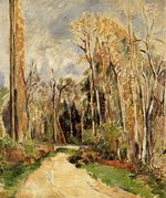 Path at the entrance to the forest 1879