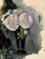 Flowers in a Blue Vase 1880