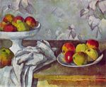 Still life  with apples and fruit bowl 1882