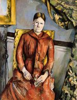 Madame Cezanne in a yellow chair 1890