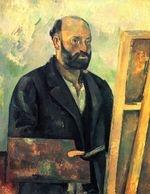Self-portrait with palette 1890