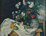Still life with flowers and fruit 1890