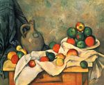 Curtain jug and fruit 1894