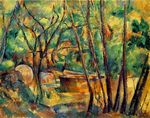 Millstone and cistern under trees 1894