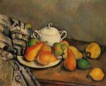 Sugarbowl pears and tablecloth 1895