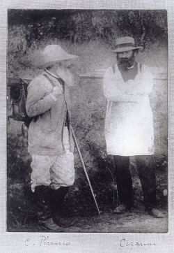 Historic photo of Pissarro and Cezanne at Pontoise 1874-1877